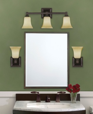 Phillips lighting bathroom light fixtures contemporary lights fixtures equipped with standard incandescent xenon or halogen bulbs behind glass globes provide the most flattering light aloadofball Images
