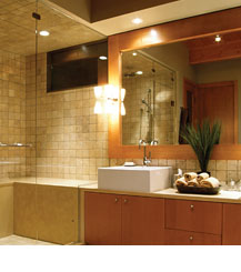 Tub And Shower Enclosures Can Be Adequately Lighted By Placing An Enclosed Damp Location Recessed Downlight In The Ceiling These Downlights Are Also
