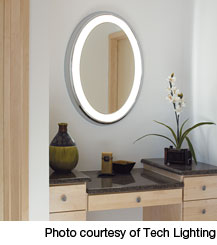 at the dressing a table along with lighted magnifying mirror will provide ideal lighting for grooming and applying s