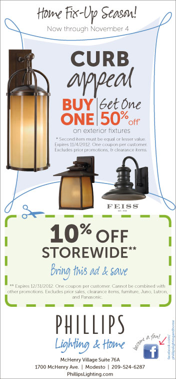 Buy one outdoor fixture get 50% off the second one