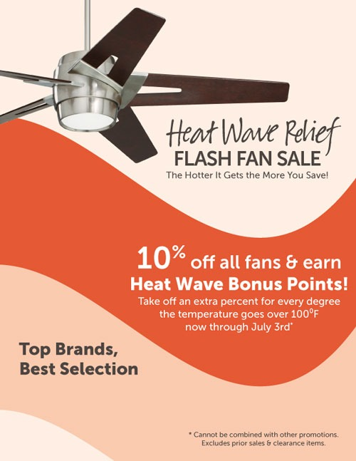 Heat Wave Relief Fan Sale Phillips Lighting And Home