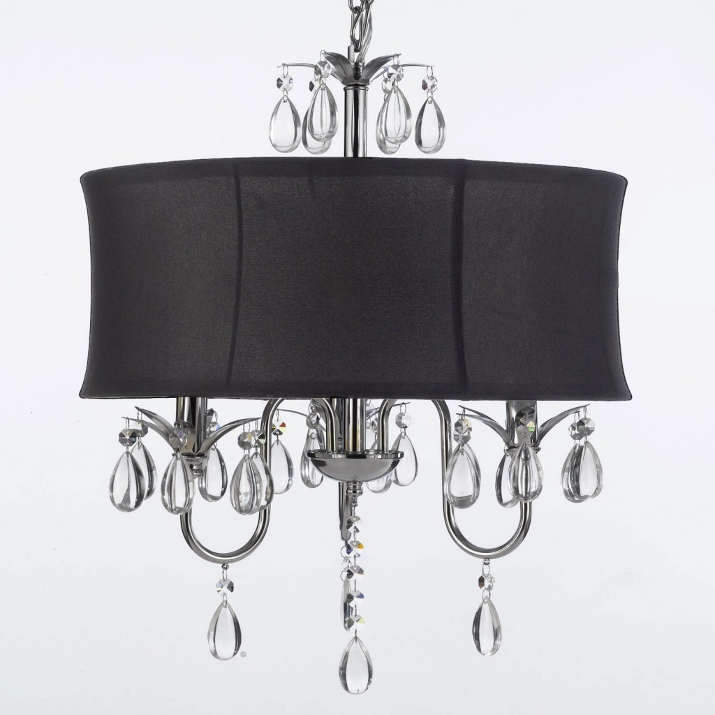 Turn your home into a castle with a chandelier phillips lighting black drum shade crystal chandelier arubaitofo Images